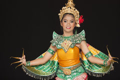 Thai young lady in an ancient Thailand dance wea Stock Images