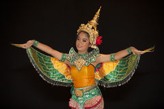 Thai young lady in an ancient Thailand dance wea Royalty Free Stock Photography