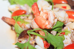 Thai Yum seafood Stock Photography
