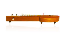 Thai zither music instrument. Thai zither old fashioned music instrument  on white background Royalty Free Stock Photos