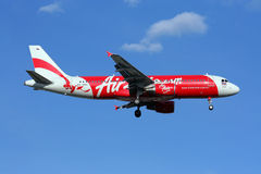 Thaiairasia landning Royaltyfri Fotografi