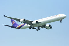 A340-600 of Thaiairway Stock Photos
