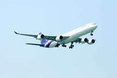 A340-600 of Thaiairway Royalty Free Stock Photography