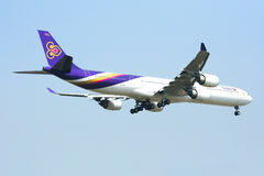 A340-600 of Thaiairway Stock Images