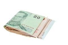 Thaibaht Banknotegeld stockbilder
