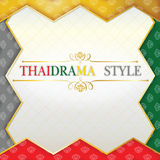 Thaidrama style. This work represents a pantomime play of Thailand Royalty Free Stock Photo
