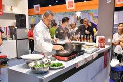 THAIFEX的厨师-食物亚洲世界2017年 免版税图库摄影