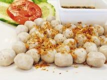 Thaifood, шарик рыб Стоковая Фотография