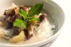 Thaifood, curry della noce di cocco di manzo salato Fotografia Stock Libera da Diritti