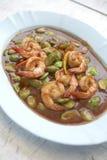 Thaifood de la crevette frite Photographie stock