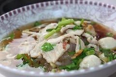 Thaifood de los tallarines Foto de archivo