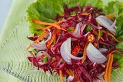 Thaifood, de salade van Bloemen Royalty-vrije Stock Foto's