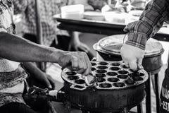 thaifood del streetfood del black&white Imagenes de archivo
