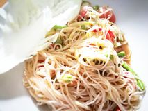 Thaifood di Somtum Immagini Stock Libere da Diritti
