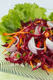 Thaifood, Flowers salad. Modern thai food, Sour and spicy flowers salad  (Roselle Salad Royalty Free Stock Image