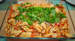 Thaifood ready-to-eat close-up. Thaifood food and drink royalty free stock photo