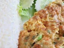 Thaifood, riso dell'omelette Fotografia Stock Libera da Diritti