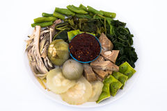 Thaifood. Safe and healthy foods from Thailand, nam-prik Stock Photography