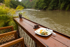 Thaifood serve on riverside Stock Images