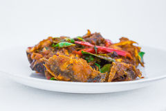 Thaifood spicy fish. Photo by focusing on a specific point royalty free stock photo