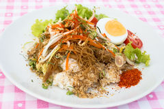 Thaifood. Thai food names kao-yum similar to a salad Royalty Free Stock Photography