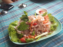 Thaifood. Thai Seafood salad and spices (Yum ruam mit Stock Images