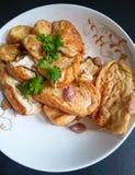 Thaifoods, Tofuaufruhr briet mit Pfeffer und Knoblauch Lizenzfreies Stockfoto