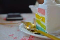 Thailändischer süßer Kuchen stockbild