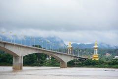 Thailändisch-Laos-Freundschafts-Brücke Stockbild