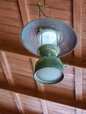 Thailändische antike Lampe Stockfoto