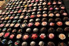 Thailändische Aromakerzen. stockbild