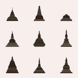 Thailändische Art Buddhismus Stupa - Vektor stock abbildung