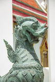 Thailändische Art der Löweskulptur Lizenzfreies Stockfoto