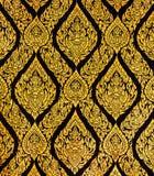 Thailändische Artkunst des Musters auf der Tür im Tempel, Thailand Textu Stockbilder