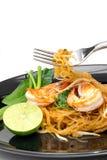 Thailändische Artnudeln, füllen thailändisches auf Lizenzfreies Stockfoto