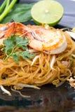Thailändische Artnudeln, füllen thailändisches auf Stockfoto