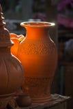 Thailändische Arttöpferware bei Ko Kret in Nonthaburi-Provinz, Thailand Lizenzfreie Stockfotografie