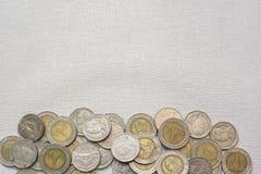 Thailändische Badmünzen lizenzfreie stockbilder