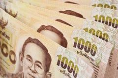 Thailändische Banknote des 1000-Baht-Hintergrundes Lizenzfreie Stockfotografie