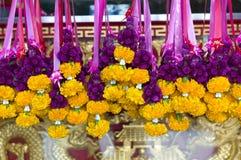 Thailändische Blumengirlande Lizenzfreie Stockfotografie