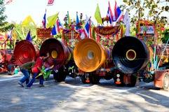 Thailändische ceremomial Trommeln. Stockbild