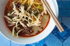 Thailändische Currynudel Stockfoto
