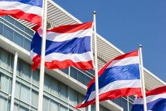 Thailändische Flagge mit Lizenzfreies Stockfoto