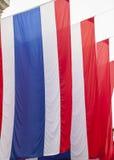 Thailändische Flaggen Stockfotografie