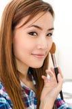 Thailändische Frau mit glücklichem Gesicht lizenzfreie stockfotos
