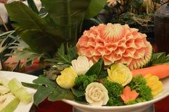 Thailändische Fruchtdekoration stockbild