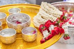 Thailändische Girlande Blumen lizenzfreies stockbild