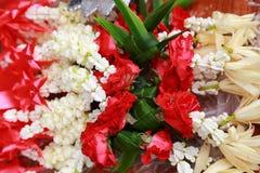 Thailändische Girlandenblume ist Handhandwerk von Thailand Stockfoto