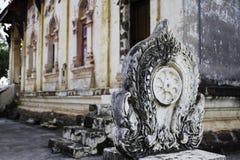 Thailändische historische Gebäude im thailändischen Tempel Lizenzfreies Stockbild