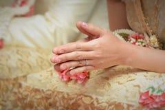 Thailändische Hochzeitszeremoniedekoration Lizenzfreie Stockfotos